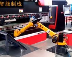 ESTUN shang下料机器人-在ban金折wan中deying用